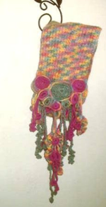 Freestyle Crochet Handpainted Wool Scarf