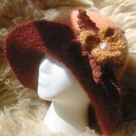 Lyns Knitted Felted Hat